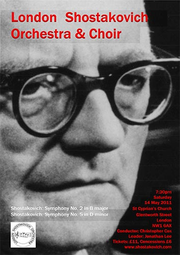 London Shostakovich Orchestra Concert Poster